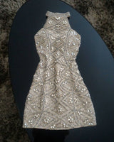 Champagne Beading short prom dress, Sheath homecoming dress,Fashion Evening Dress P01911