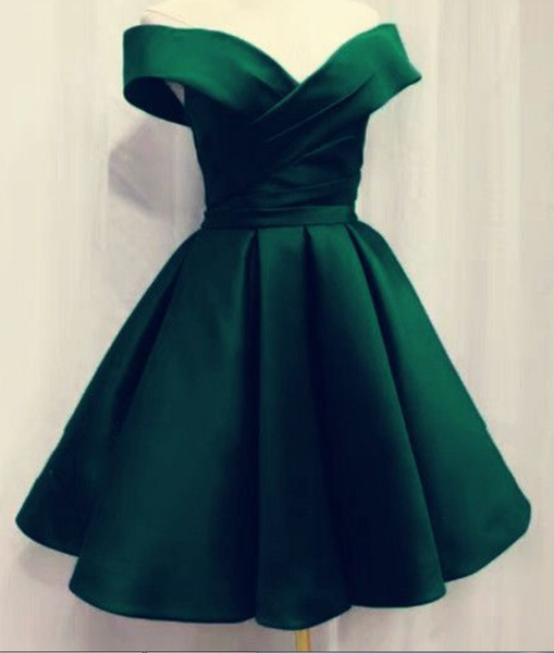 Short Emerald Green Homecoming Dresses For Prom Party P02079