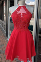 short red homecoming dress prom dress short cocktail dress P0780