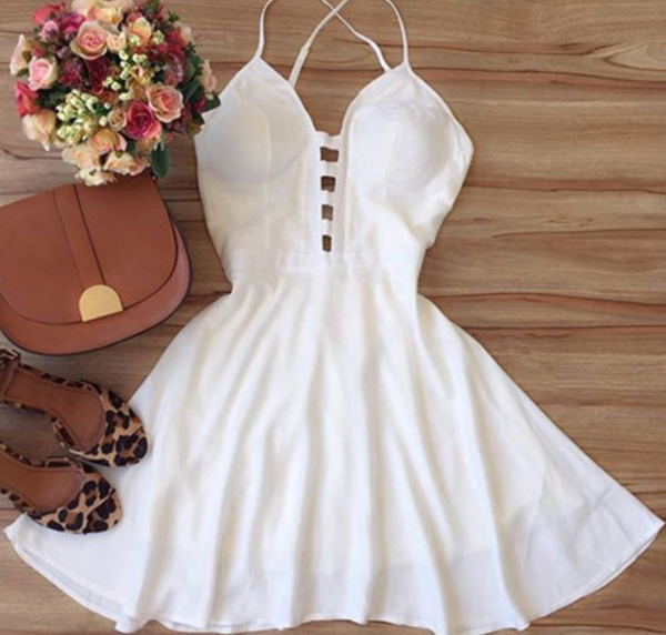 Cute backless short dress, women fashion dress Cocktail Dresses Short Prom Dress P3071