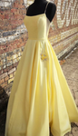 simple long prom dresses, cheap yellow prom dresses, pretty prom dresses with pockets P4341