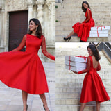 Red Tulle Homecoming Dresses, Short Cute Prom Dresses, Lovely Teen Formal Dress P4379