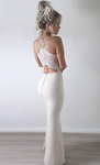 White Prom Dress, Mermaid Prom Dress, Tight Prom Dresses P4647