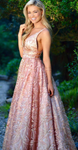 Princess Prom Dress with Appliques, Long Pink Prom Dress, Pretty Prom Dress P4652