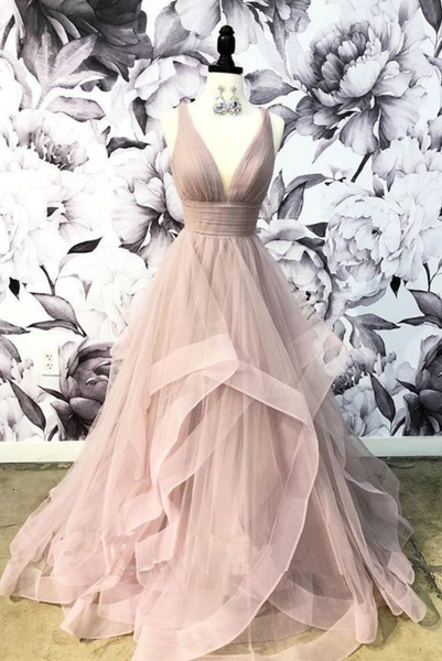 Blush Prom Dresses, Long Prom Dresses, Pretty Prom Dresses P4757