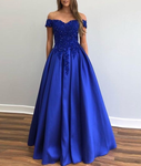 royal blue prom dress,formal gown P5567