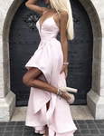 Asymmetric Bridesmaid Dresses Satin Formal Gown For Women P5784