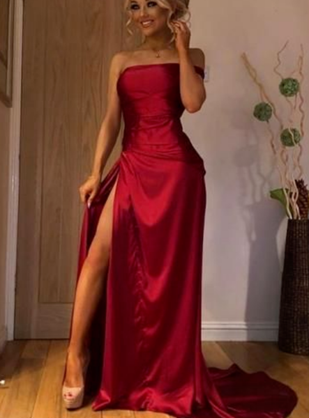 Sweetheart Elegant A-Line Dresses, Evening Dress Prom Gowns, Formal Women Dress,Red Prom Dress P7197