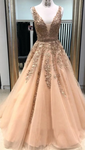 A Line Prom Dress with Lace, Evening Dress, Dance Dress, Graduation School Party Gown P7211