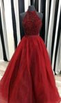 Red Prom Dress Evening Dress, Winter Formal Dress,Pageant Dance Dresses, Graduation School Party Gown P7217