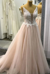 Prom Dress Deep V Neckline, Prom Dresses, Evening Dress, Dance Dress, Graduation School Party Gown P7219