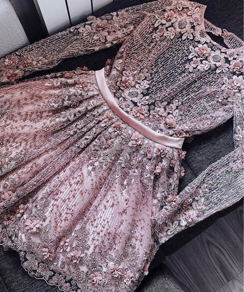 Cute Homecoming Dress,Pretty Graduation dress,Pink Homecoming Dresses,P7258