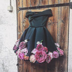 Cute Homecoming Dress,Pretty Graduation dress,Black Homecoming Dresses,P7261