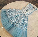 Cute Homecoming Dress,Pretty Graduation dress,Light Blue Homecoming Dresses,P7266