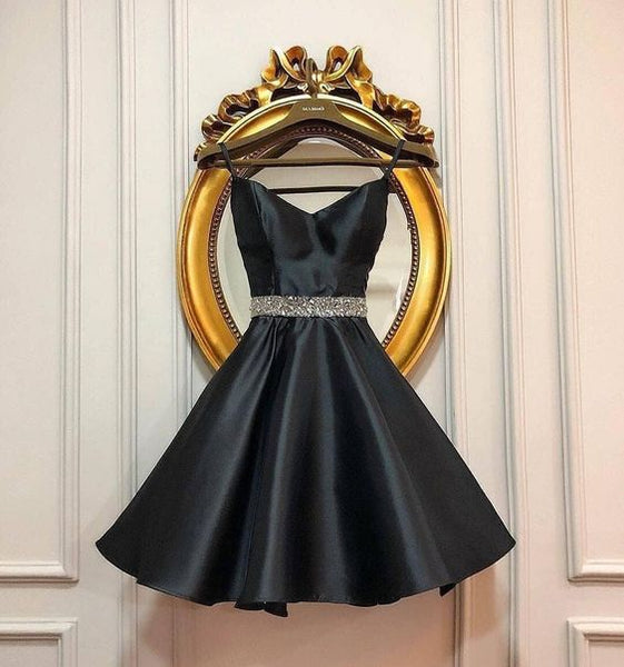 Cute Homecoming Dress,Pretty Graduation dress,Black Homecoming Dresses,P7285