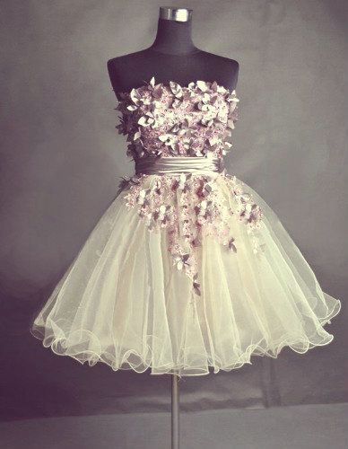 Cute Homecoming Dress,Pretty Graduation dress,White Homecoming Dresses,P7286