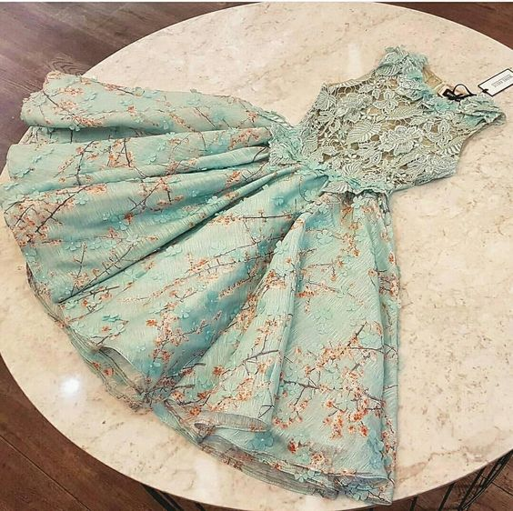 Cute Homecoming Dress,Pretty Graduation dress,Lace Homecoming Dresses,P7291