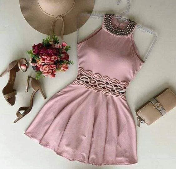 Cute Homecoming Dress,Pretty Graduation dress,Pink Homecoming Dresses P7293