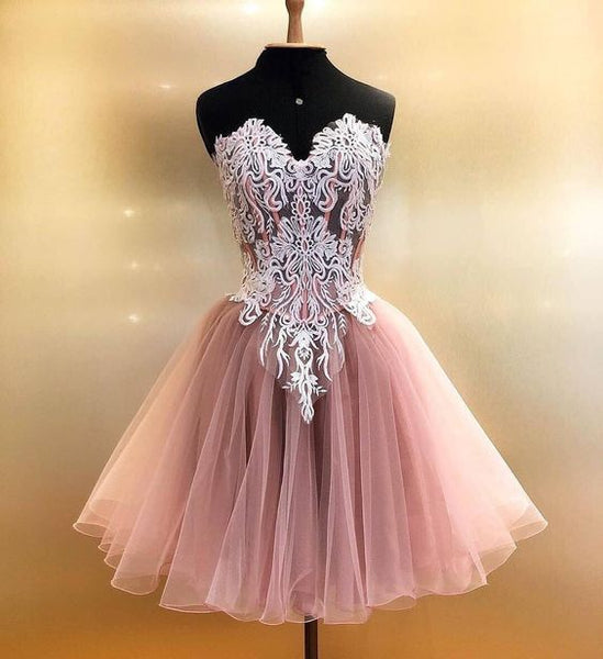 Cute Homecoming Dress,Pretty Graduation dress,Lace Homecoming Dresses P7299