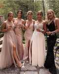 White Prom Dresses,Pink Evening Dress Pretty Black Prom Dresses P7467