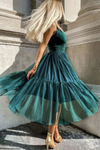 Cute tulle short prom dress A line party dress KS2885