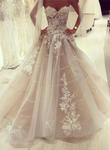 Custom made lace tulle long prom dress, wedding dress ks3014