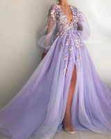 tulle long prom dress evening dress S679