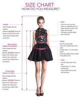 V-Neck Short Prom Homecoming Dress with Appliques Beading KO36