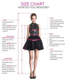 Tulle Short Prom Dress, Sheer Neck A Line Homecoming Dress KP50