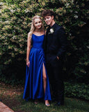 2019 Long Prom Dresses with Cross Back, royal blue Prom Dresses Party Dresses cg2836