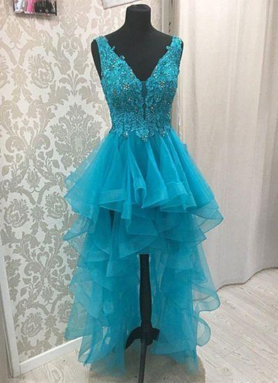 2019 Homecoming Dresses high low lace dress cg3354