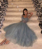 Cute tulle lace short prom dress evening dress   cg6592