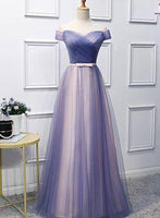 Charming Floor Length Prom Dress, Off shoulder Formal Dress, Long Evening Dresss  cg6661