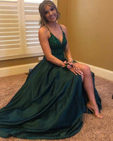 Green Long Prom Dress,Evening Dress,Prom Dresses  cg6699