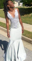 Sexy Backless Little White Mermaid Prom Dresses  cg6774