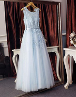 Customized Light Prom Dresses Lace, Blue Bridesmaid Dresses, Prom Dresses Long, Light Blue Bridesmaid Dresses  cg6793