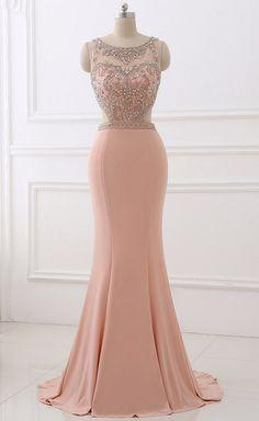 Spandex Evening Dress Erosebridal Simply Beading Mermaid prom dress cg6795