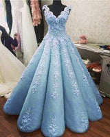 Charming Ball Gown Prom Dresses Lace Embroidery  cg6845