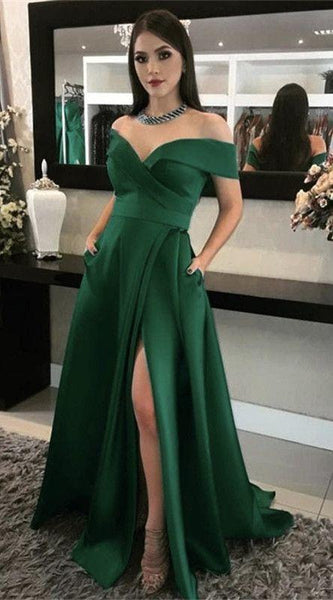 Off Shoulder Prom Dresses With Pockets   cg6940