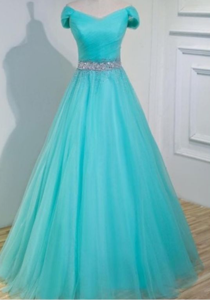 A line tulle evening prom dress  cg7016
