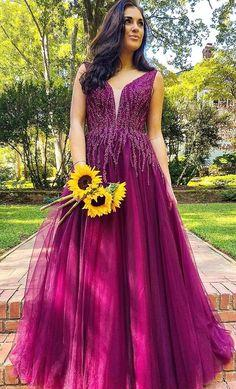 pretty purple long prom dresses, luxury beading prom gowns, fashion graduation party dresses  cg7018