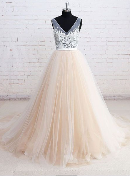 2020  long prom dress tulle charming dress cg7122