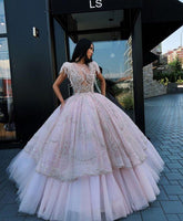 Sparkly Beaded Long Prom Dress Fashion Long ball gown School Dance Dresses  cg7133