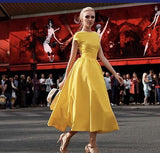 European Yellow Ball Gown prom Dress  cg7281