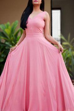 Pink Elegant Long Prom Dresses, Pink Formal Dresses, Open Back Prom Dress  cg7298