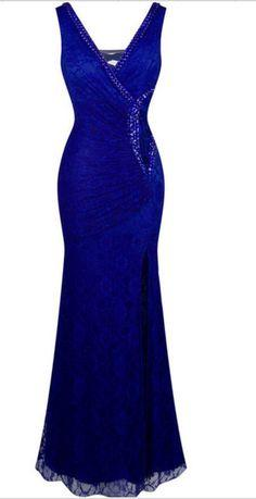V Neck Long Prom Dress WIth Beading  cg7310