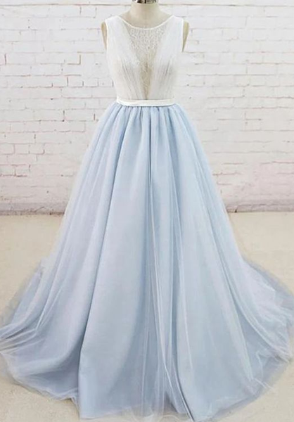 Light Blue Prom Dress, Prom Dresses, Evening Dress, Dance Dress, Graduation School Party Gown  cg7347