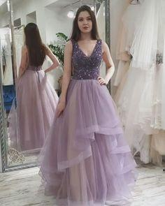 Charming Prom Dress,Tulle Prom Gown,Beading Evening Dress,A-Line Prom Gown  cg7365