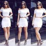 Two Piece White Homecoming Dress Party Dresses  cg7378