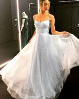 Sparkly tulle sequins long prom dress  cg7390